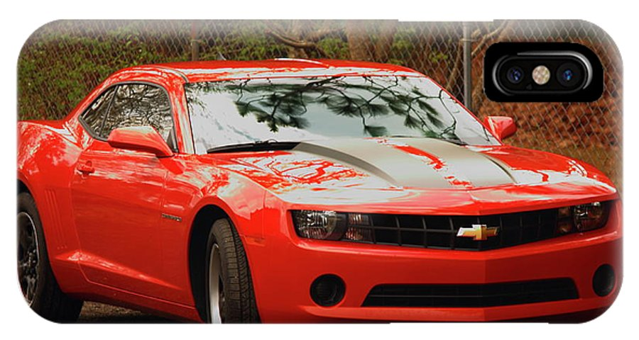 Chevy Camero IPhone X Case featuring the photograph Classic Orange by Jamie Smith