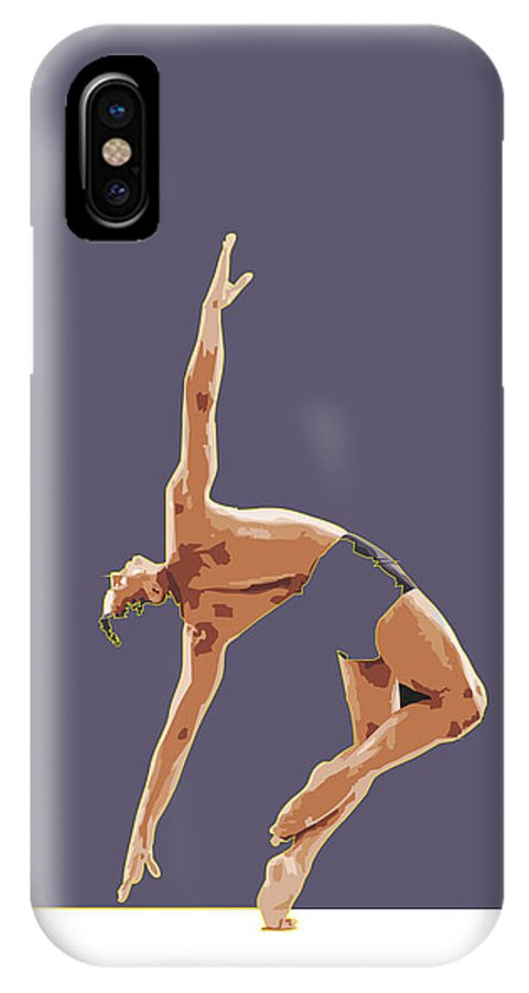Classical IPhone X Case featuring the digital art Classical Ballet Dancer by Joaquin Abella