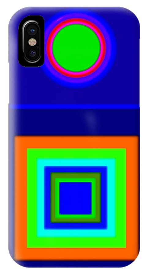 Classical IPhone X Case featuring the painting Classical Blue by Charles Stuart