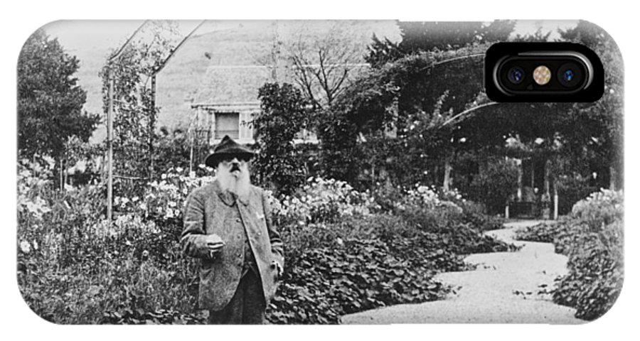 Male;artist;painter;impressionist;dans Son Jardin;old;elderly IPhone X Case featuring the photograph Claude Monet In His Garden by French School
