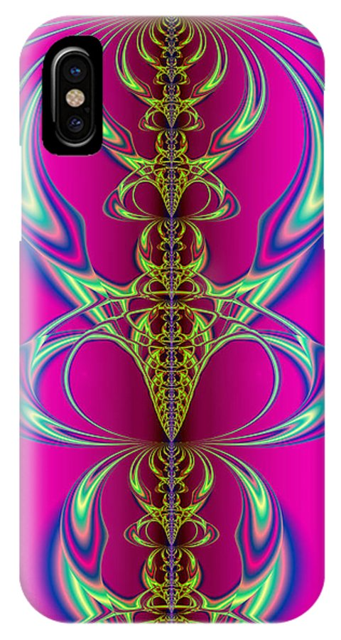 Abstract IPhone X Case featuring the digital art Claws by Frederic Durville