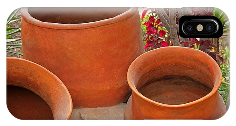 Pot IPhone X / XS Case featuring the photograph Clay Pots by Robert Hamm