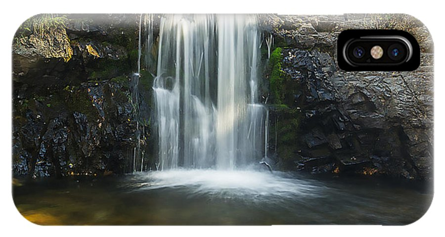 Waterfall IPhone X Case featuring the photograph Clear Creek Water Fall by Rod Goodwin