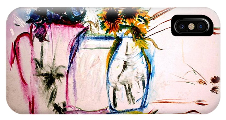 Still Life IPhone X Case featuring the painting Clear by Jack Diamond