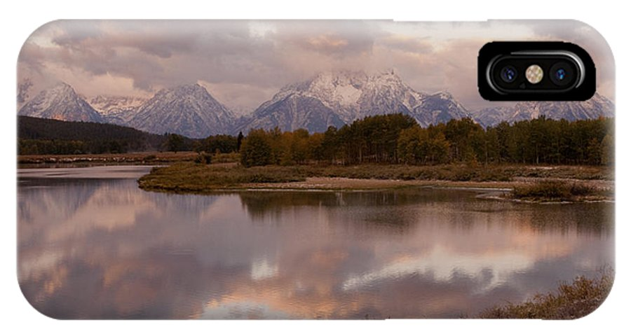 Grand Teton IPhone X Case featuring the photograph Clearing Storm At Oxbow Bend by Sandra Bronstein