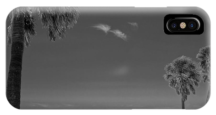 3scape IPhone X / XS Case featuring the photograph Clearwater Beach Bw by Adam Romanowicz