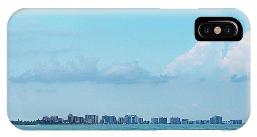 Water Cityscape Beach Town Blue Buildings Honeymoon IPhone X Case featuring the photograph Clearwater by Lyssa Peace