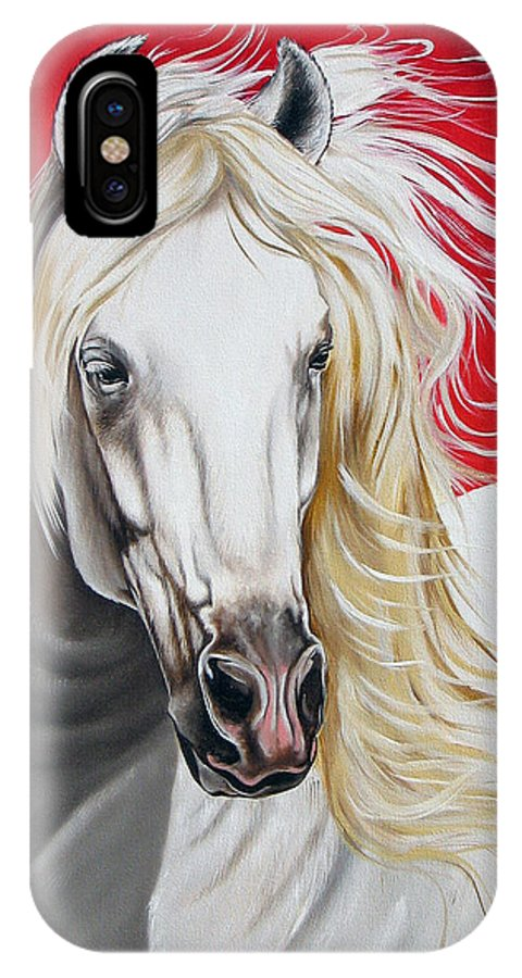 Horse IPhone Case featuring the painting Cleo by Ilse Kleyn