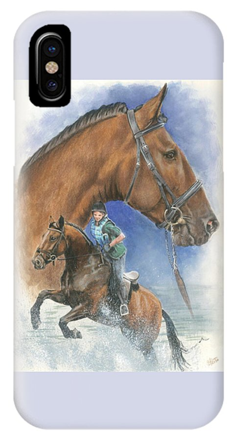 Hunter Jumper IPhone X / XS Case featuring the mixed media Cleveland Bay by Barbara Keith