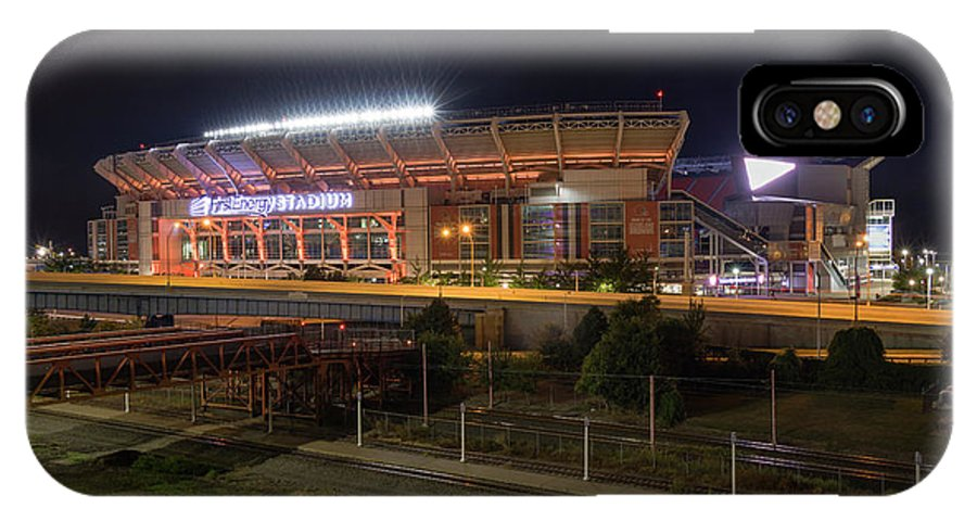Cleveland IPhone X Case featuring the photograph First Energy Stadium by Anthony Stevens