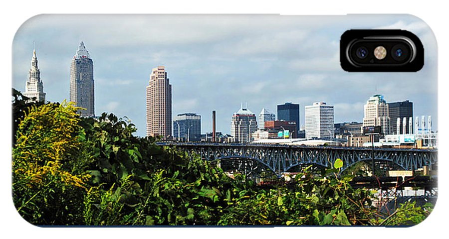 Bridge IPhone X Case featuring the photograph Cleveland Poster by Joan Minchak