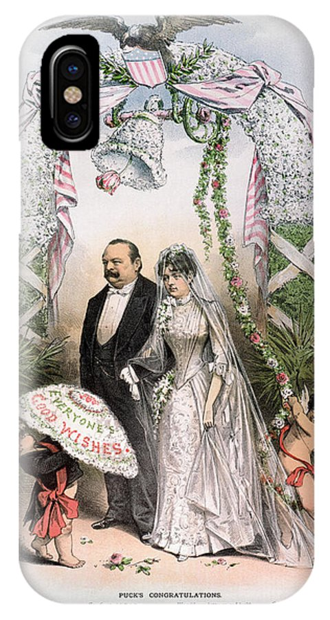 1886 IPhone X Case featuring the photograph Clevelands Wedding, 1886 by Granger