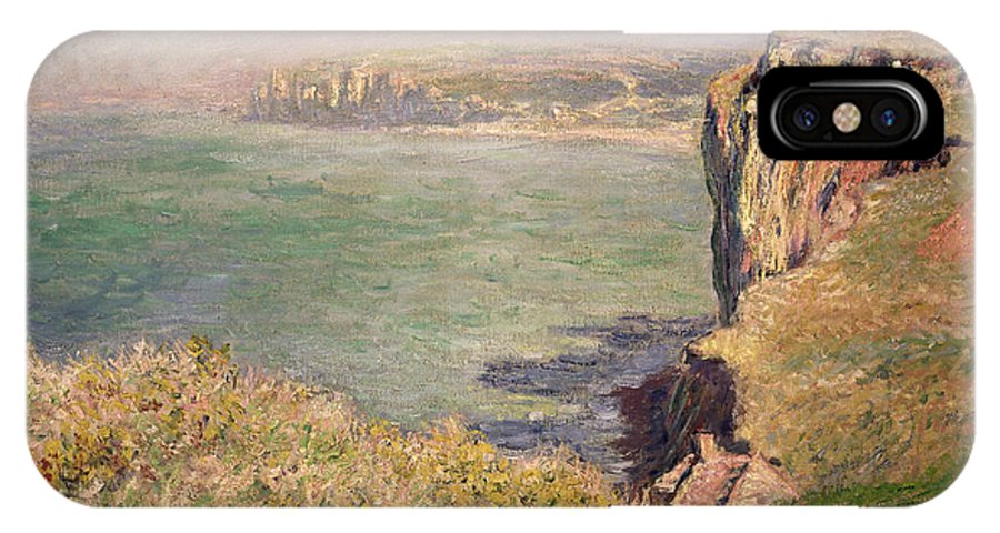 Cliff IPhone X Case featuring the painting Cliff At Varengeville by Claude Monet