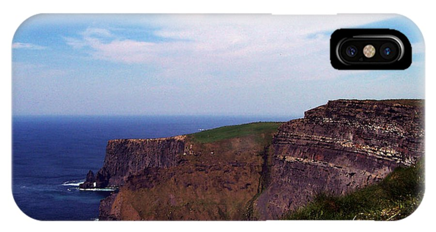 Irish IPhone X Case featuring the photograph Cliffs of Moher Aill Na Searrach Ireland by Teresa Mucha