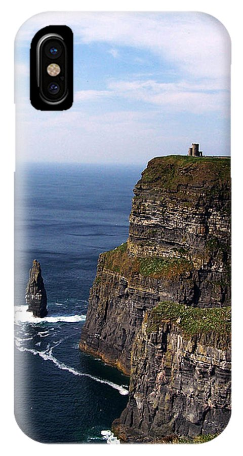 Irish IPhone X Case featuring the photograph Cliffs Of Moher County Clare Ireland by Teresa Mucha