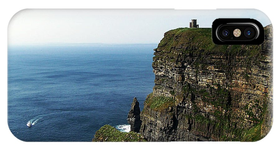 Irish IPhone X Case featuring the photograph Cliffs of Moher Ireland by Teresa Mucha