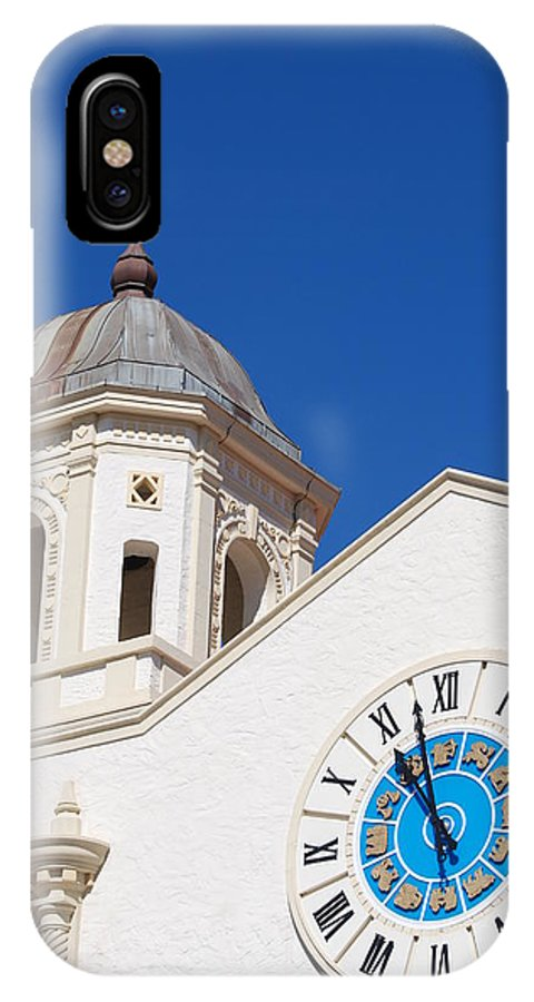Clock IPhone X Case featuring the photograph Clock And Tower by Rob Hans