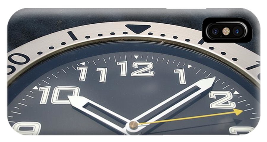 Clock IPhone X Case featuring the photograph Clock Face by Rob Hans