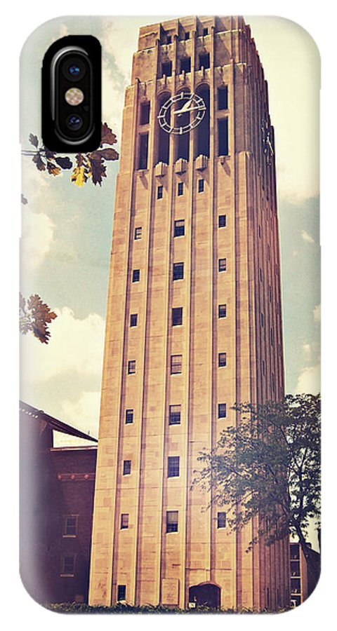 Photo IPhone X Case featuring the photograph Clock Tower by Phil Perkins