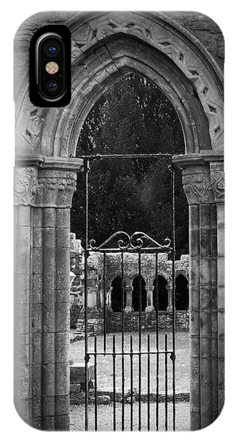Irish IPhone Case featuring the photograph Cloister View Cong Abbey Cong Ireland by Teresa Mucha