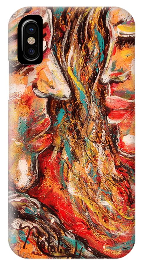 Romantic IPhone X Case featuring the painting Close Encounter by Natalie Holland