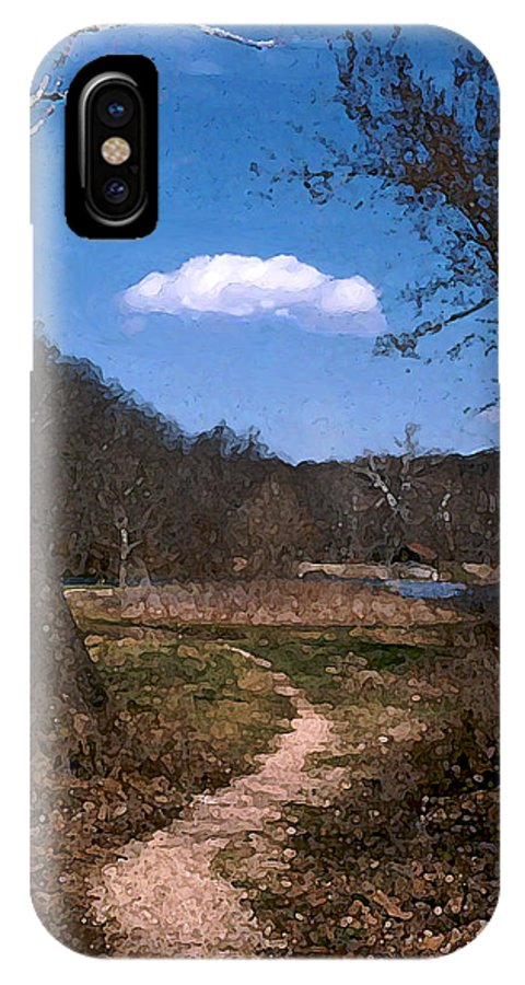 Landscape IPhone X Case featuring the photograph Cloud Destination by Steve Karol