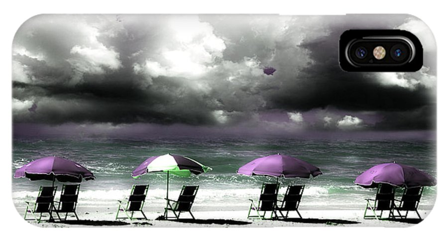 Beach IPhone X Case featuring the photograph Cloud Illusions by Mal Bray