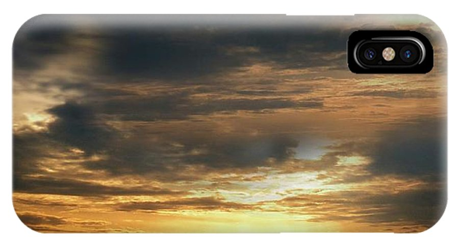 Photo IPhone X Case featuring the photograph Cloud Landscape. On The Aegean Sea. by Yuri Hope