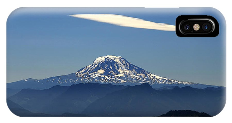 Mount Adams IPhone X Case featuring the photograph Cloud Over Adams by David Lee Thompson
