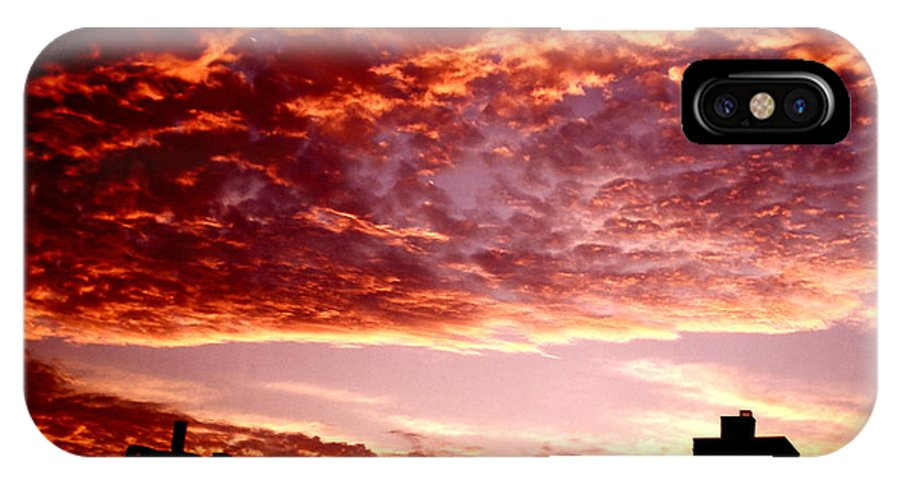 Clouds IPhone X Case featuring the photograph Clouded Fury by Ariane Moshayedi