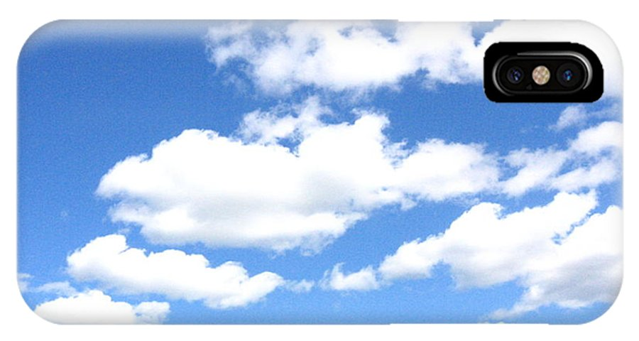 Sky IPhone X Case featuring the photograph Clouded Sky by Melissa Parks