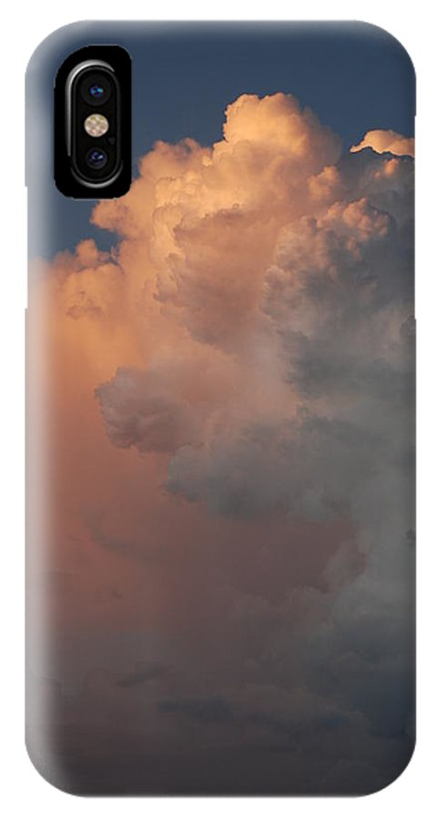 Clouds IPhone X Case featuring the photograph Clouds And More Clouds by Rob Hans