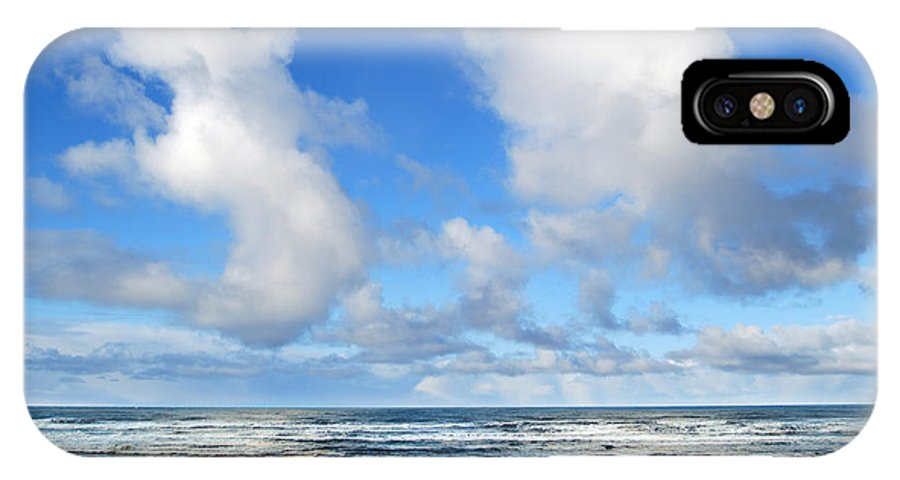 Ocean IPhone X / XS Case featuring the photograph Clouds At Play by Larry Keahey