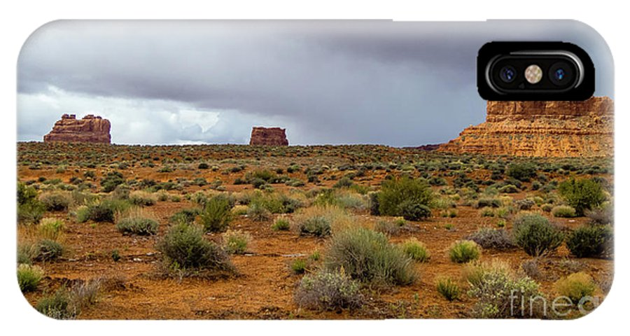 Valley Of The Gods IPhone X Case featuring the photograph Clouds Coming by Jerry Sellers