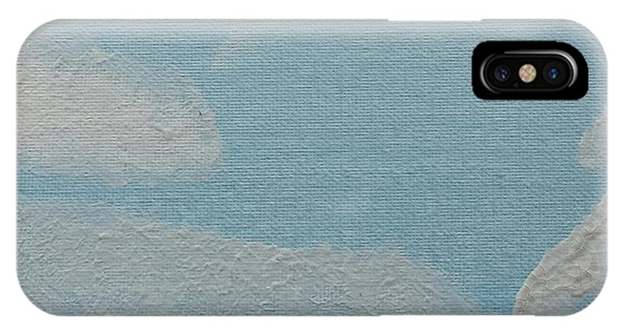 Clouds IPhone X Case featuring the painting Clouds by Epic Luis Art