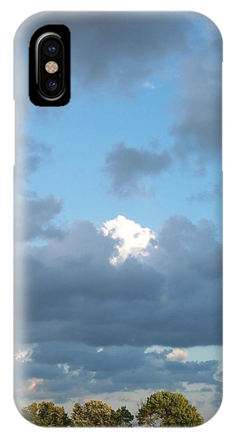 Landscape IPhone Case featuring the photograph Clouds In A Bright Sky by Michelle Miron-Rebbe