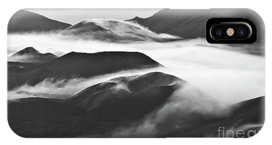 Mountains IPhone X Case featuring the photograph Maui Hawaii Haleakala National Park Clouds in Haleakala Crater by Jim Cazel