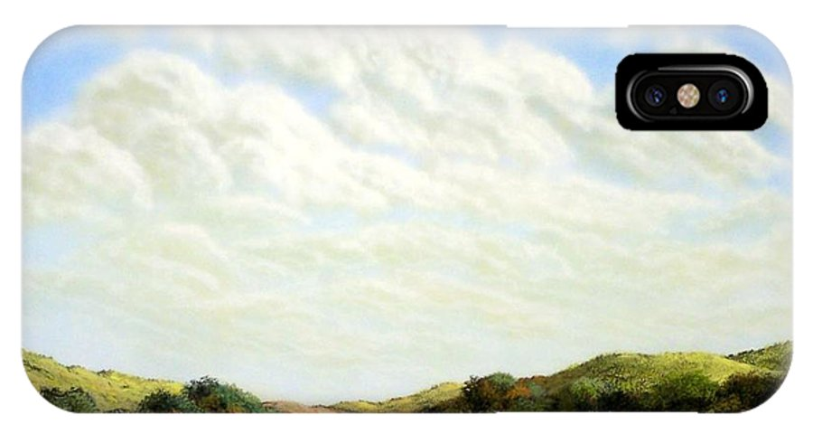 Landscape IPhone Case featuring the painting Clouds Of Spring by Frank Wilson