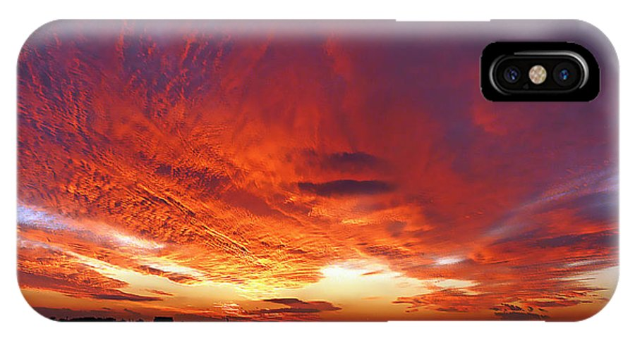 Clouds IPhone X Case featuring the photograph Clouds On Fire by Kendall Eutemey