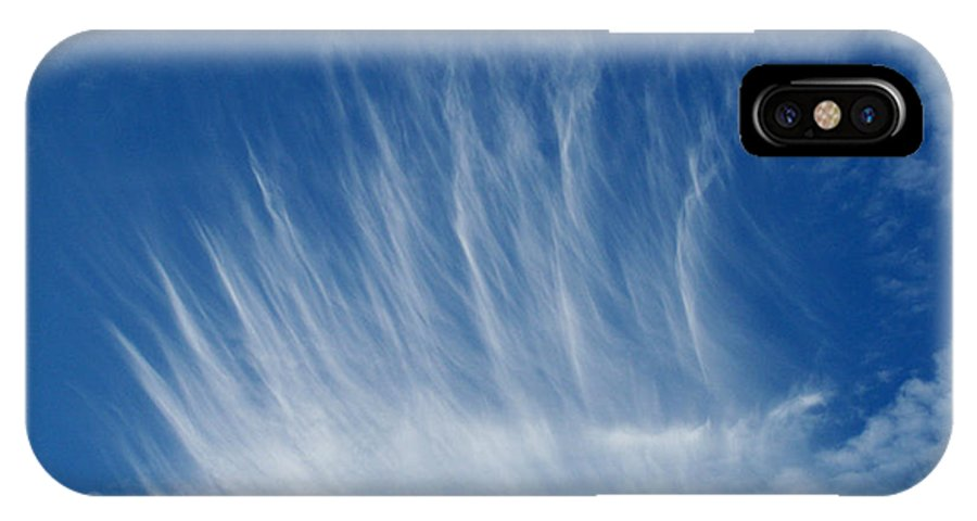 Clouds IPhone X Case featuring the photograph Clouds One by Evelyn Patrick