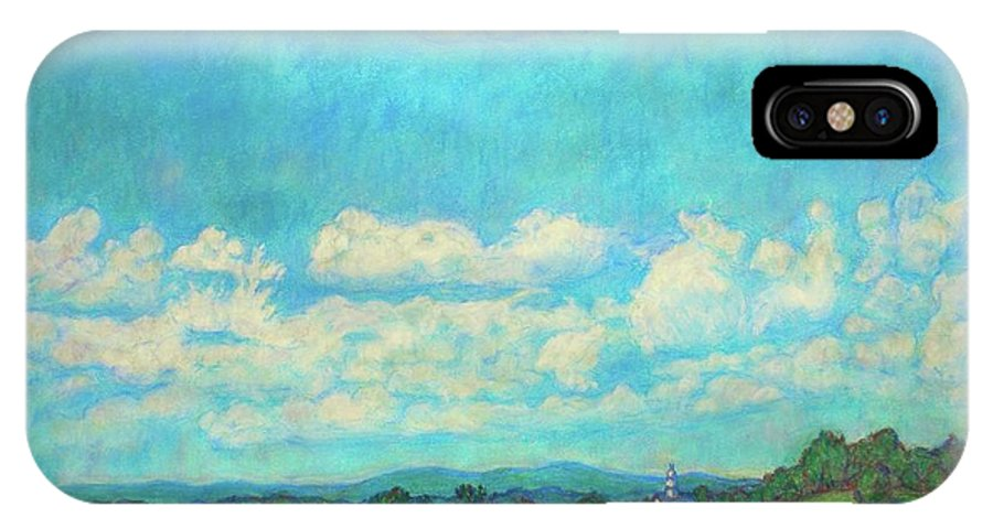Landscape IPhone Case featuring the painting Clouds Over Fairlawn by Kendall Kessler