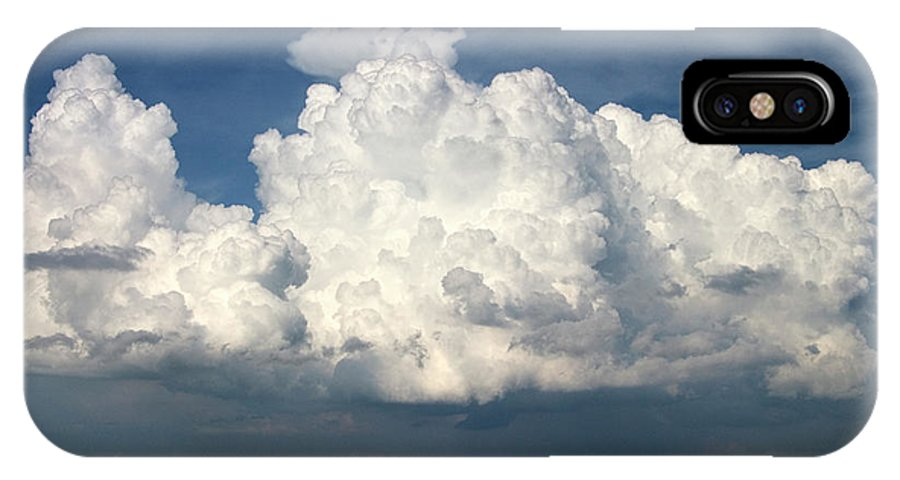 Cloudy IPhone X Case featuring the photograph Clouds Over Florida by Carl Purcell