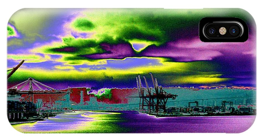 Seattle IPhone X Case featuring the photograph Clouds Over Harbor Island by Tim Allen