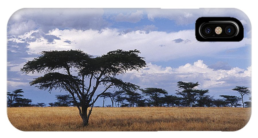 Africa IPhone X Case featuring the photograph Clouds Over The Masai Mara by Sandra Bronstein