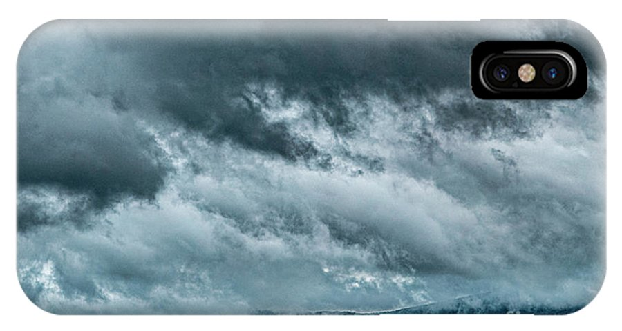 Clouds IPhone X Case featuring the photograph Clouds Over The Mountans 1329tmt by Doug Berry
