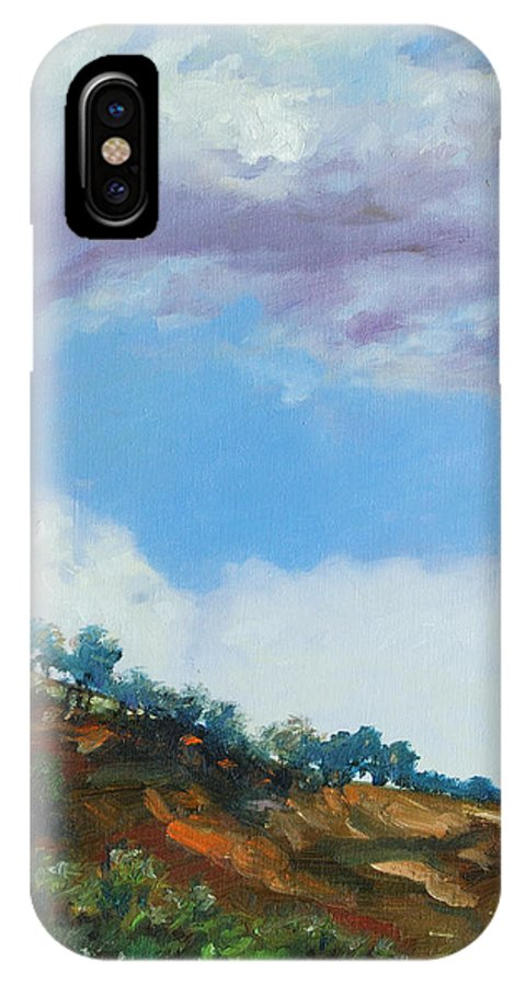 Sky IPhone X Case featuring the painting Clouds by Rick Nederlof