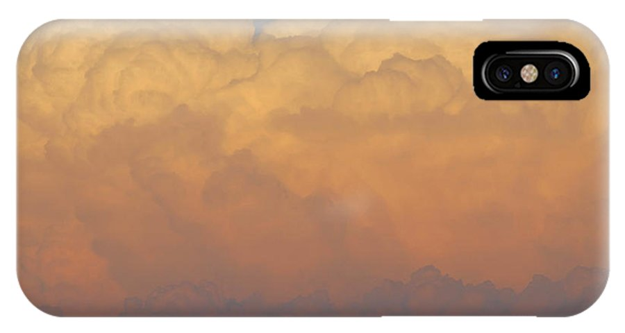 Clouds IPhone X Case featuring the photograph Cloudscape Work Number Six by David Lee Thompson