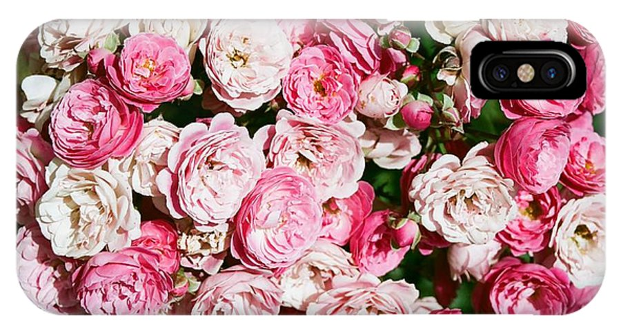 Rose IPhone X Case featuring the photograph Cluster Of Roses by Dean Triolo