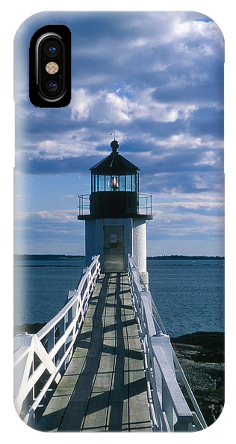 Landscape Lighthouse New England Marshall Point Light Port Clyde IPhone X Case featuring the photograph Cnrh0603 by Henry Butz