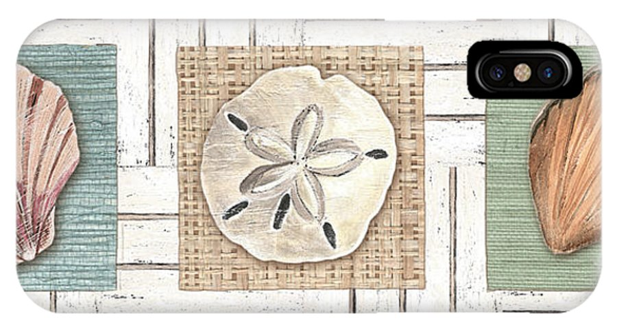 Coastal IPhone X Case featuring the painting Coastal Shells 1 by Debbie DeWitt